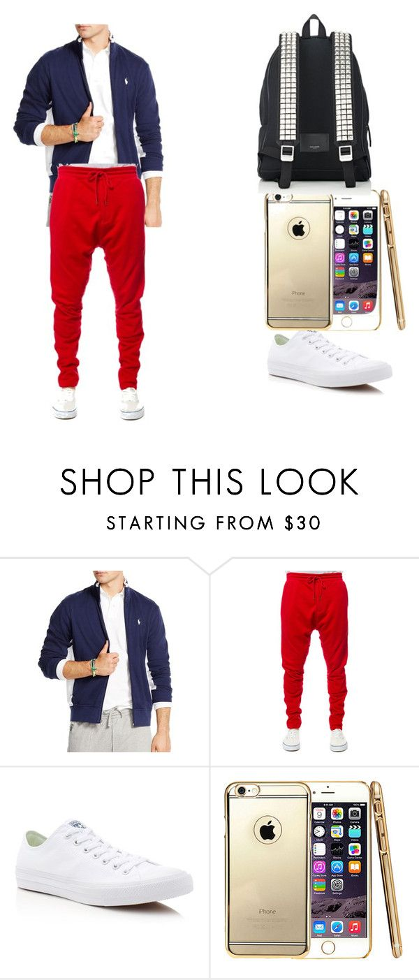 """""""espectaculo"""" by aliciadelgado on Polyvore featuring Polo Ralph Lauren, Kite, Converse, Yves Saint Laurent, mens, men, men's wear, mens wear, male and mens clothing"""