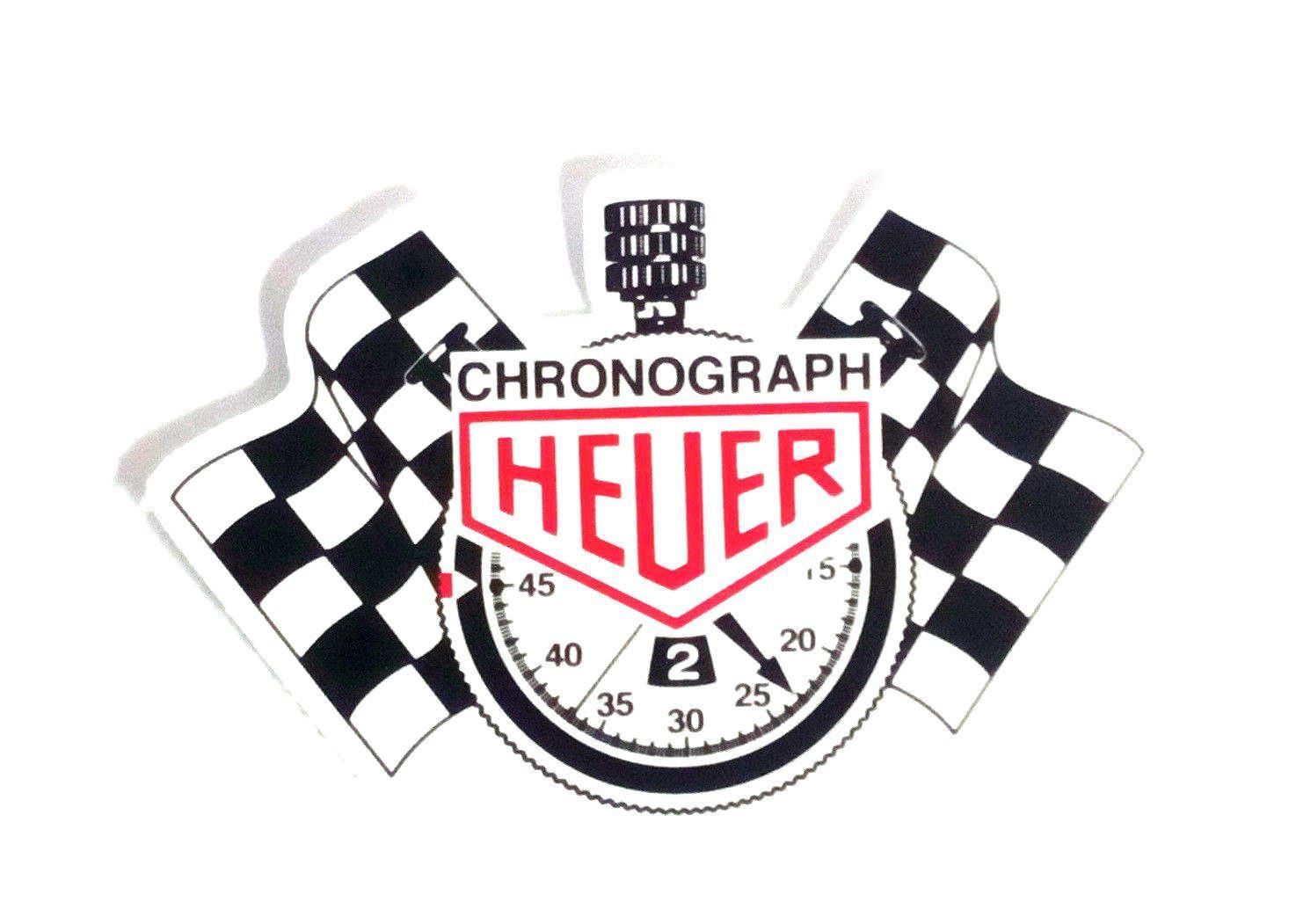 Tag heuer chronograph sticker logo racing monaco turbo car decal jdm decal bumpe ebay