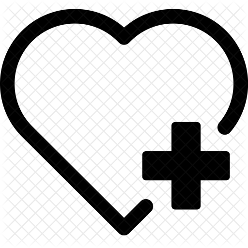 White Heart Outline Icon Png