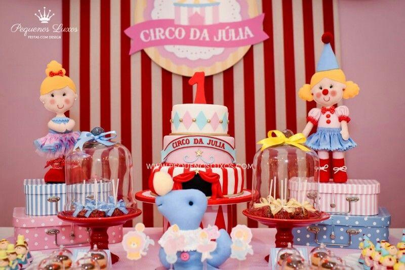 Decoração de festa Circo menina