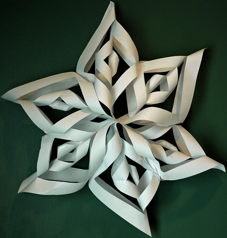 Twisted Paper Christmas Star Photograph