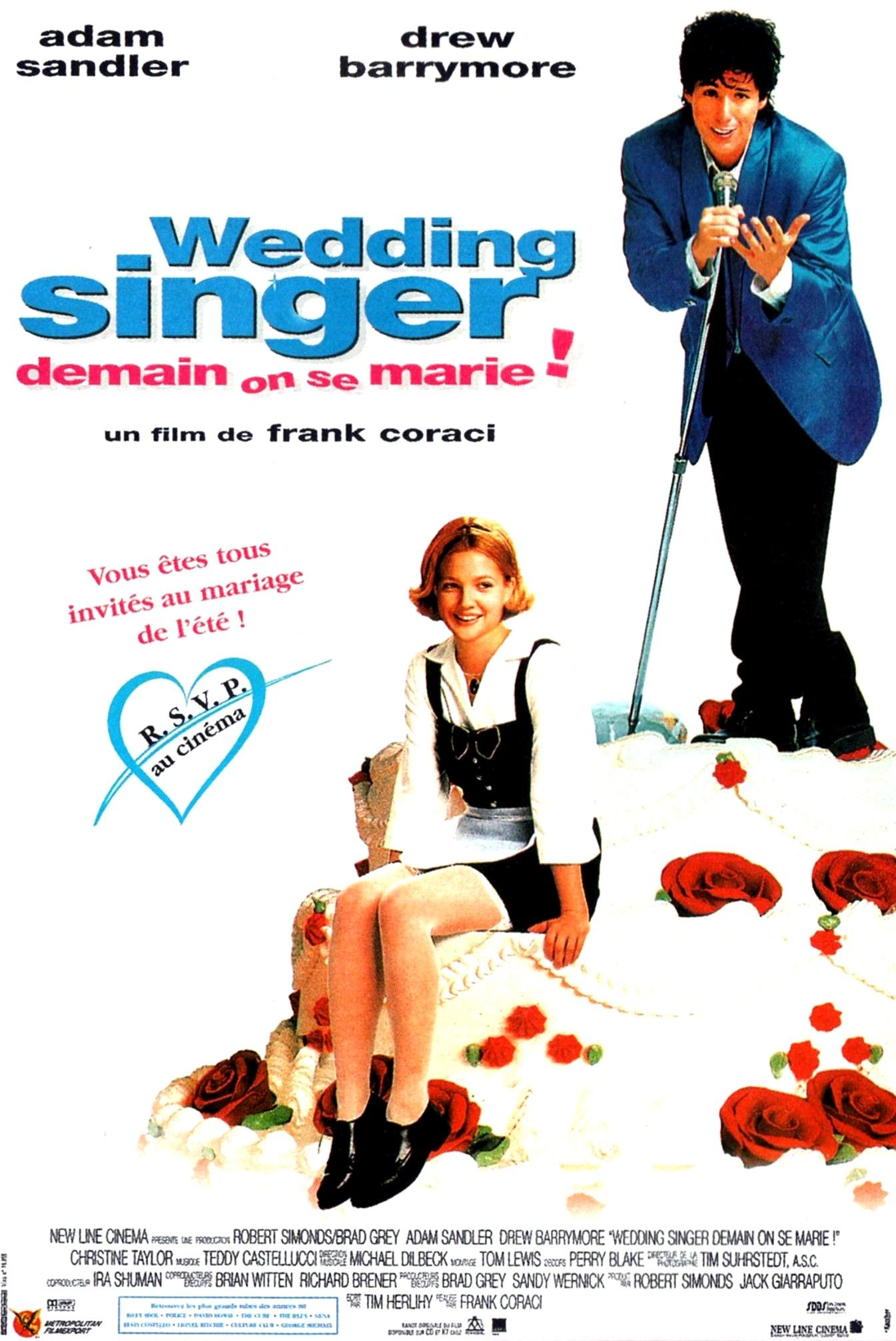 Wedding singer Affiche de film, Cinéma, Mariage