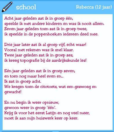 welkom op school gedicht - Google zoeken