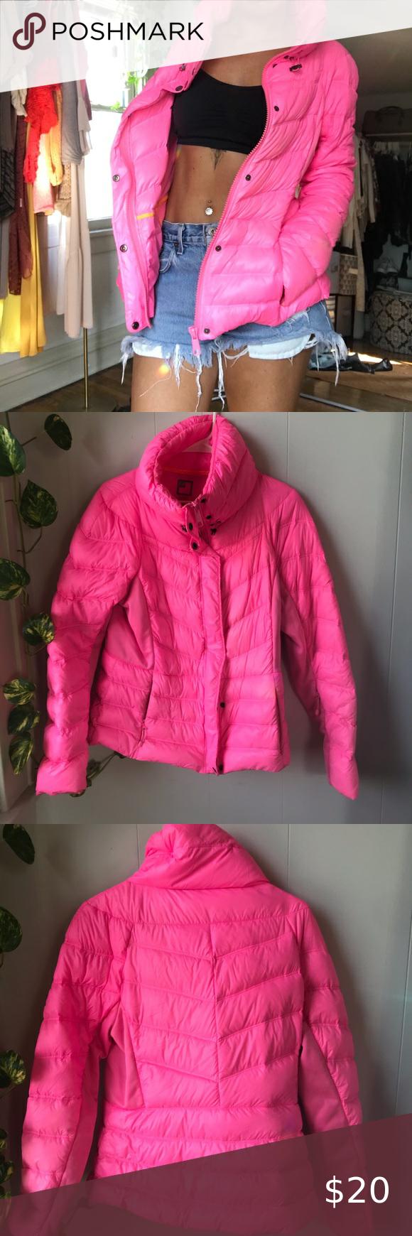 Jcp Large Hot Pink Puffer Jacket Lightweight Pink Puffer Jacket Clothes Design Hot Pink [ 1740 x 580 Pixel ]