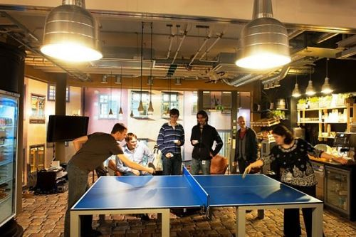 Plush Palate Google Opens Office In Stockholm It S Gorgeous Google Office Game Room Ping Pong Table