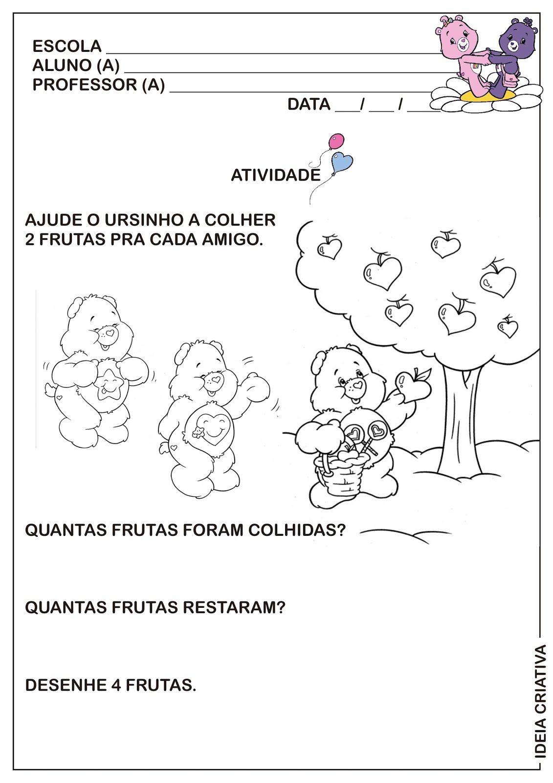 Atividade Dia Do Amigo Matematica Educacao Infantil Ursinhos