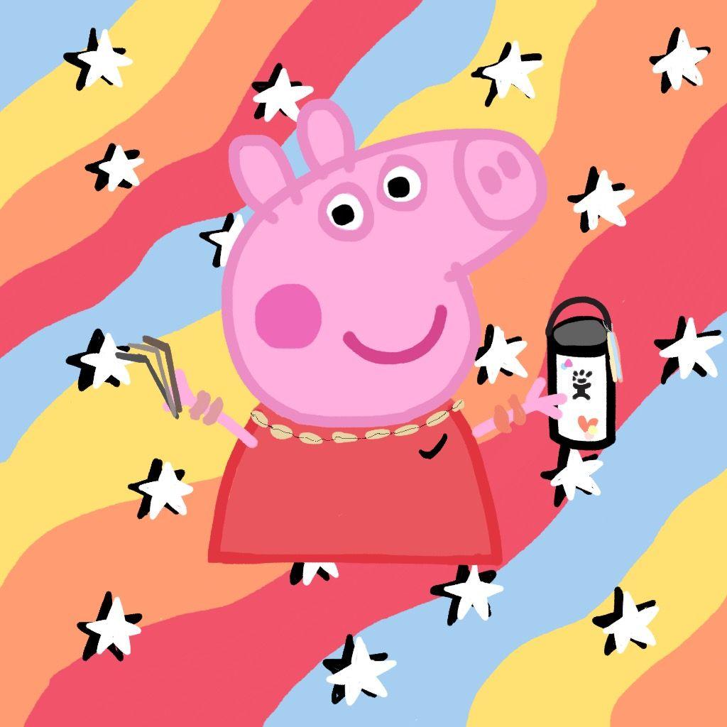 Vsco Peppa Pig Peppa Pig Wallpaper Pig Wallpaper Funny Wallpapers