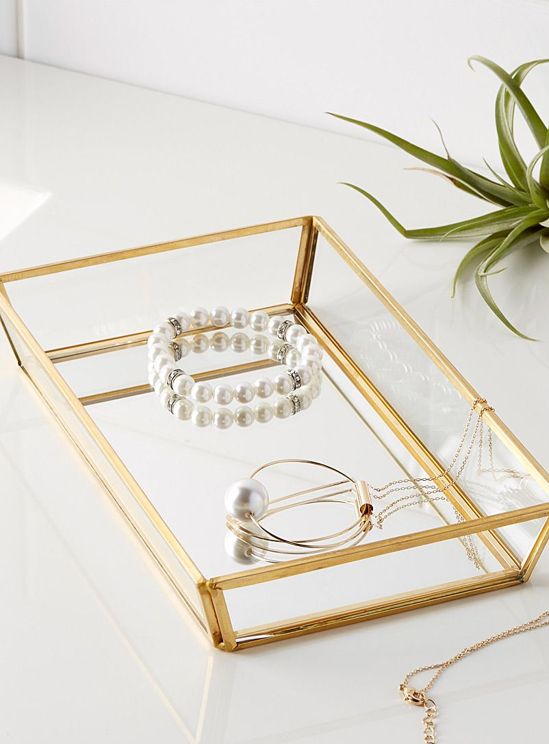 Large golden frame tray 23 x 14 x 3 cm | Simons Maison | Shop ...