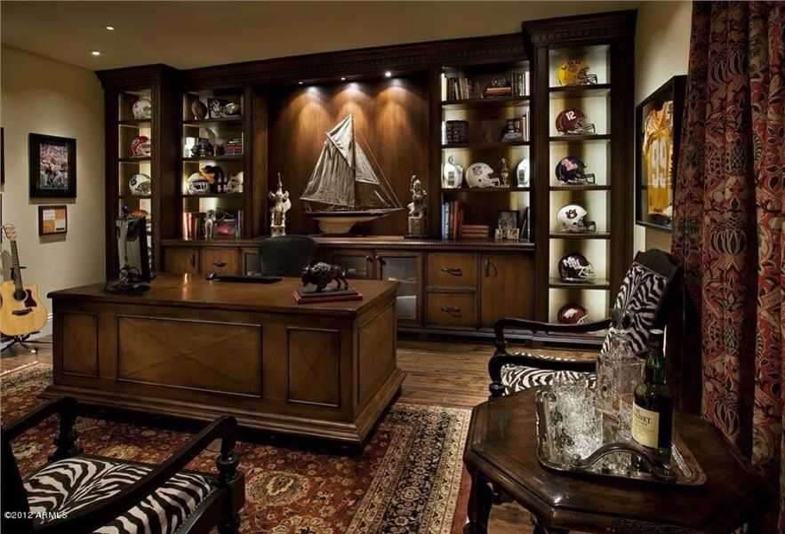 Home Office. Sports Memorabilia Cabinetry And Storage