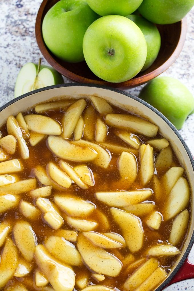 Homemade Apple Pie Filling Recipe is granny smith apples