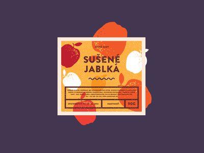 Dribbble - Sušené jablká by Michal Slovák