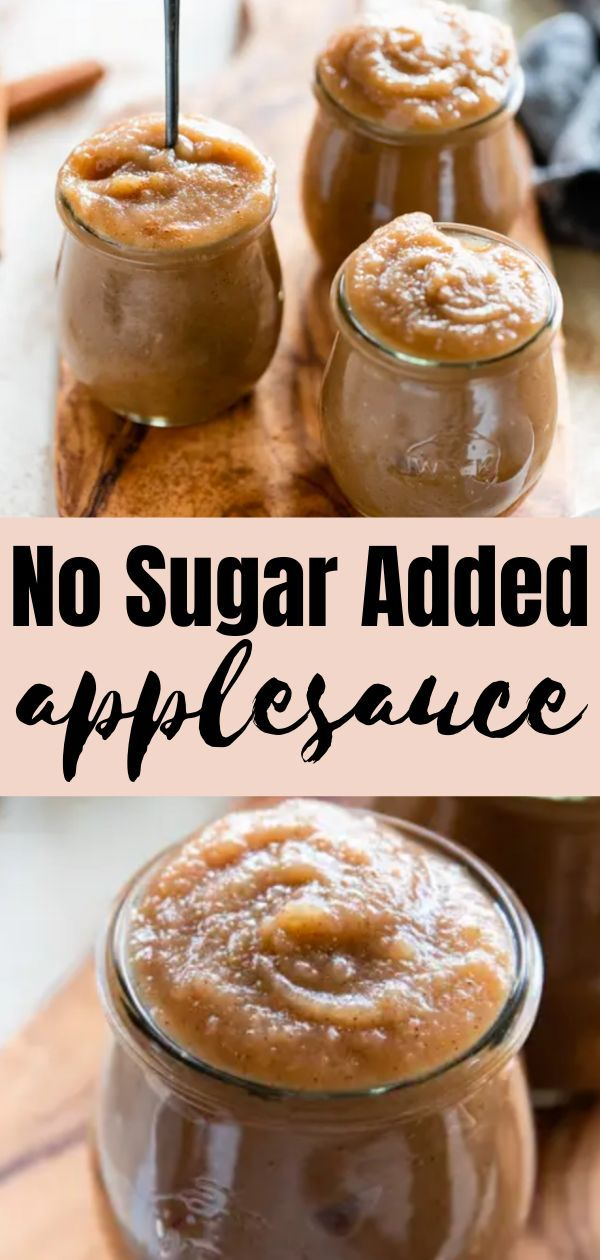 No Sugar Added Homemade Applesauce Recipe in 2020 (With