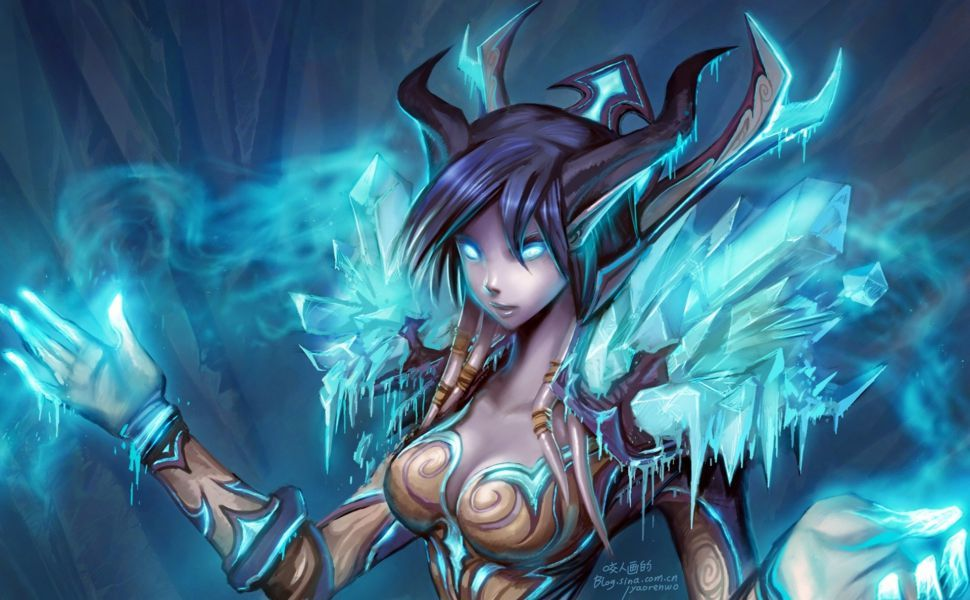 Frost Mage Hd Wallpaper World Of Warcraft Fantasy Art Wow Mage