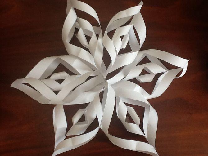 Fiocchi Di Neve Di Carta 3d : Make a d paper snowflake corde fiori di carta e fiocchi