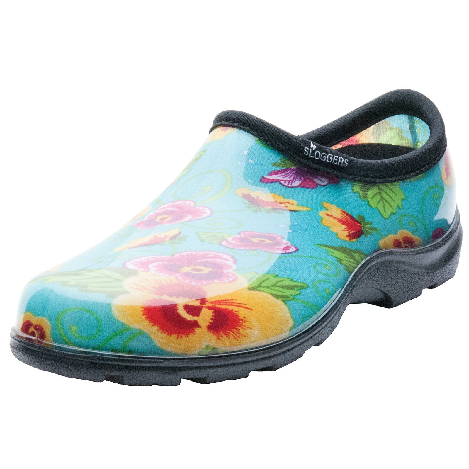 Sloggers 5114TP07 Size 7 Womens Teal Pansy Print Rain and