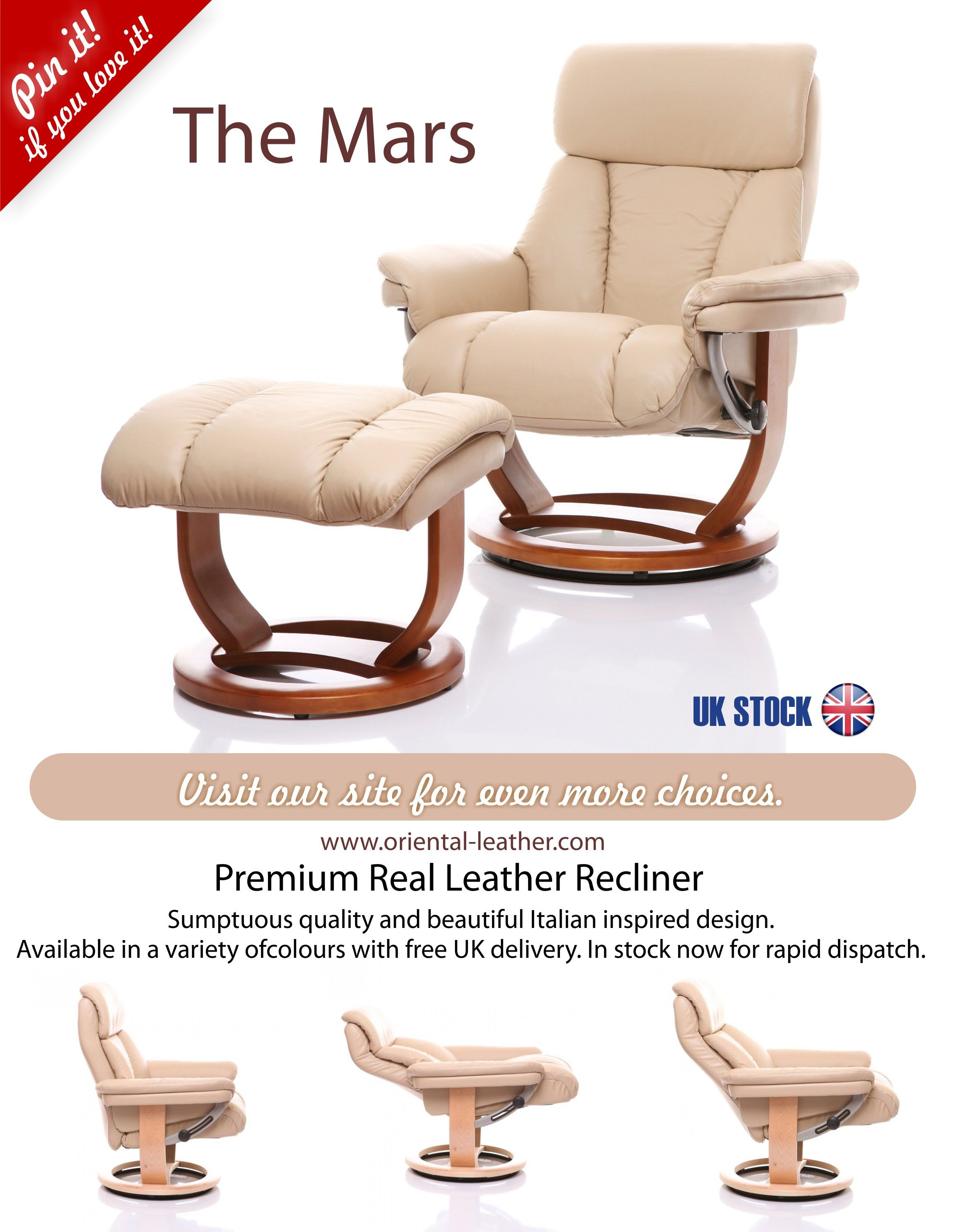 The Mars Italian Inspired Design Premium Quality Leather Recliner Chair Available In Uk A Range Of Colours