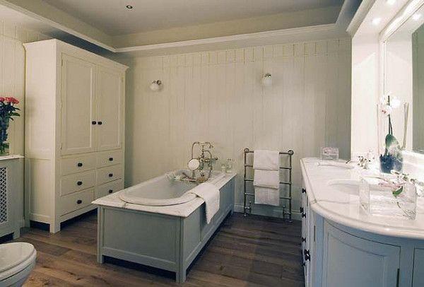 Love the armoire! bathroom