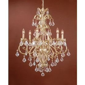 Cascadia Lighting Newcastle 26 5 In 6 Light Gilded White Gold Candle Chandelier 3471864