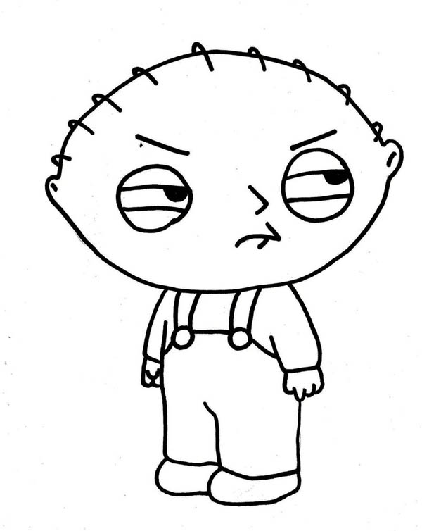 Stewie Not In Good Mood In Family Guy Coloring Page Kids Play Color Coloring Pages Cartoon Drawings Family Guy