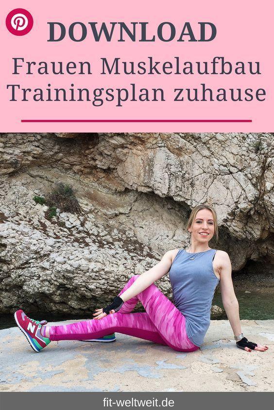 Muskelaufbau Trainingsplan für zuhause für Frauen pdf