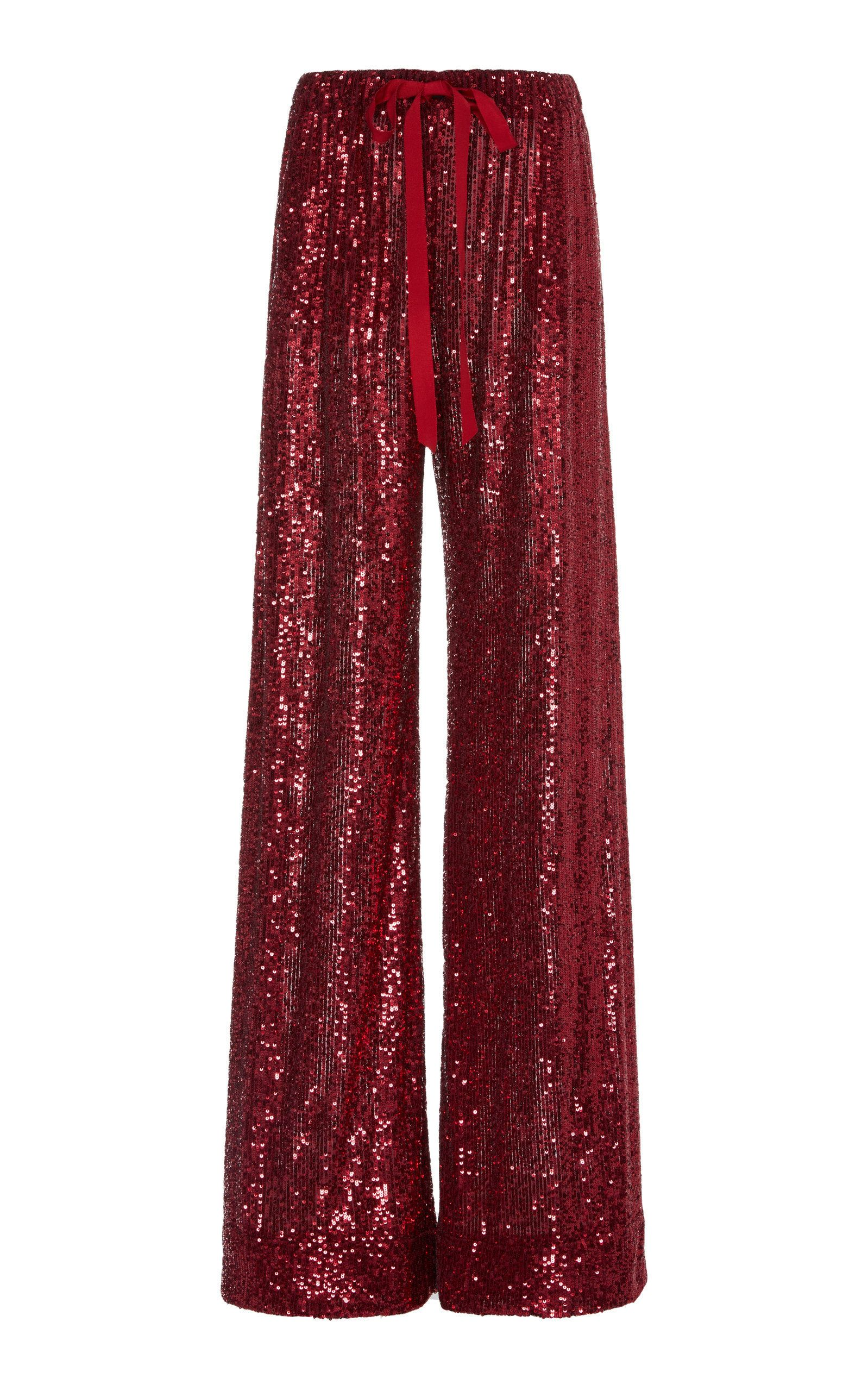 Naeem Khan Sequined Wide Leg Pants | Products in 2019 | Wide