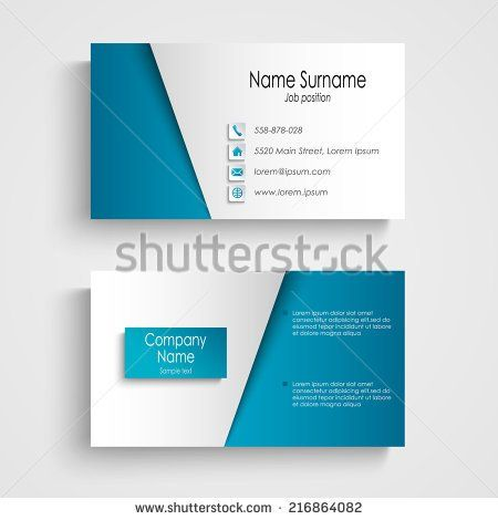 Business card free vector download (23,023 Free vector) for - name card format