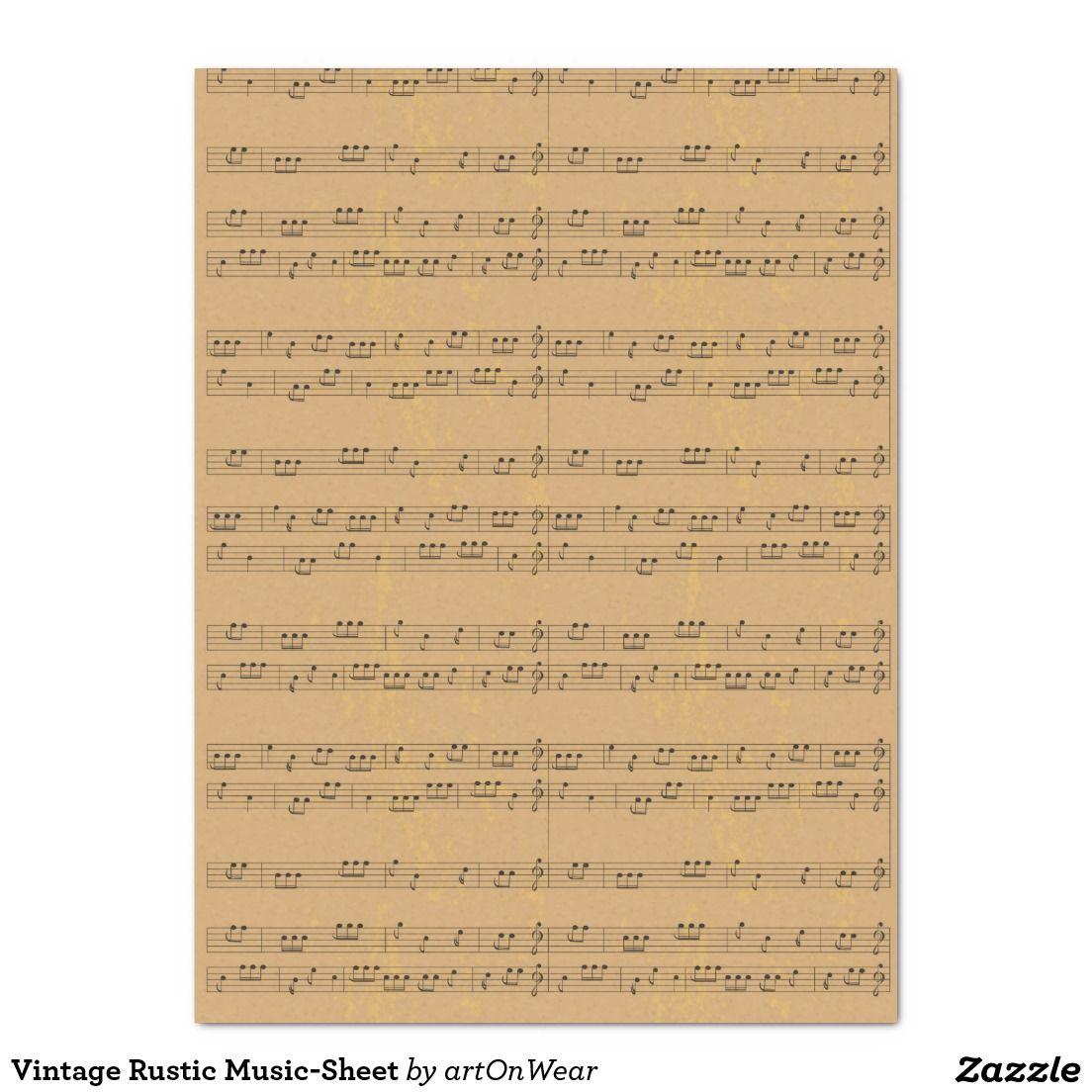 Vintage Rustic Music-Sheet