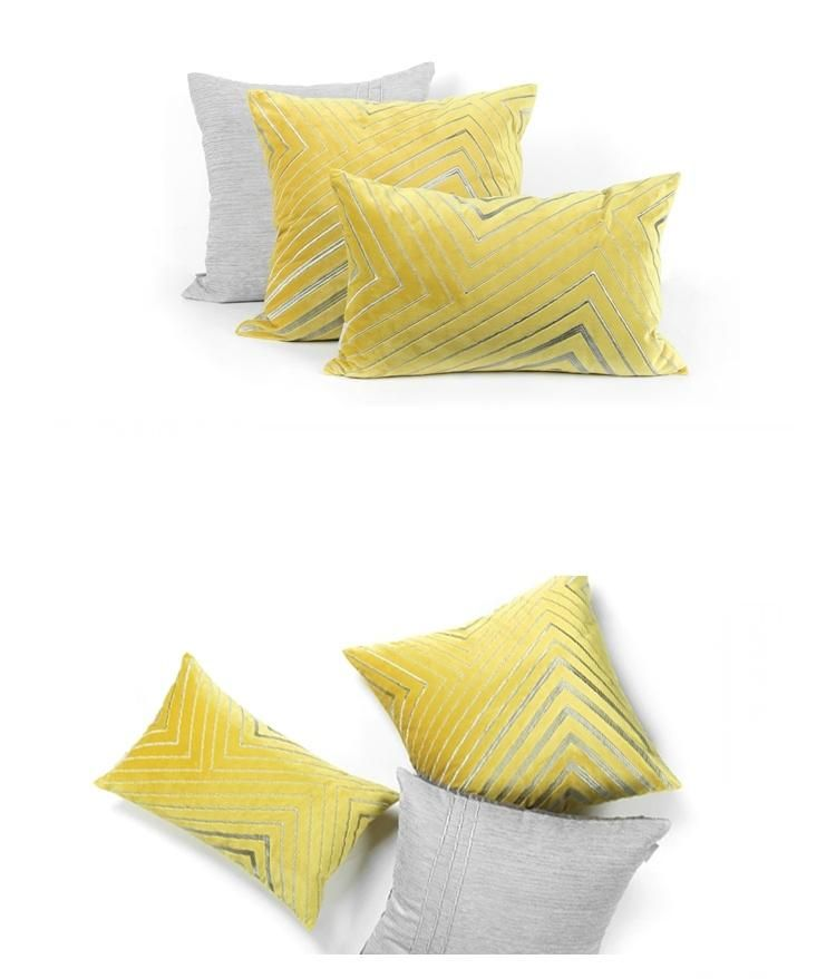 Throw Pillow Sets Yellow Simple Style Modern Throw Pillow