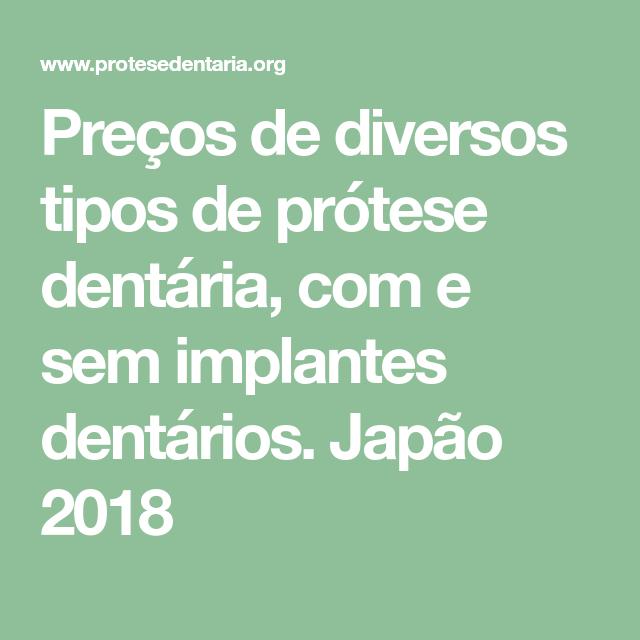 8a6ab43eb Preços de diversos tipos de prótese dentária