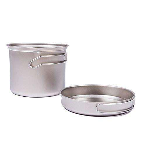 Cooking Pot Camping Titanium Pot Camping Cookware Outdoor Pot Sets Picnic Pan Only 213g Click Image For Mo Pots And Pans Sets Cookware Set Camping Cookware