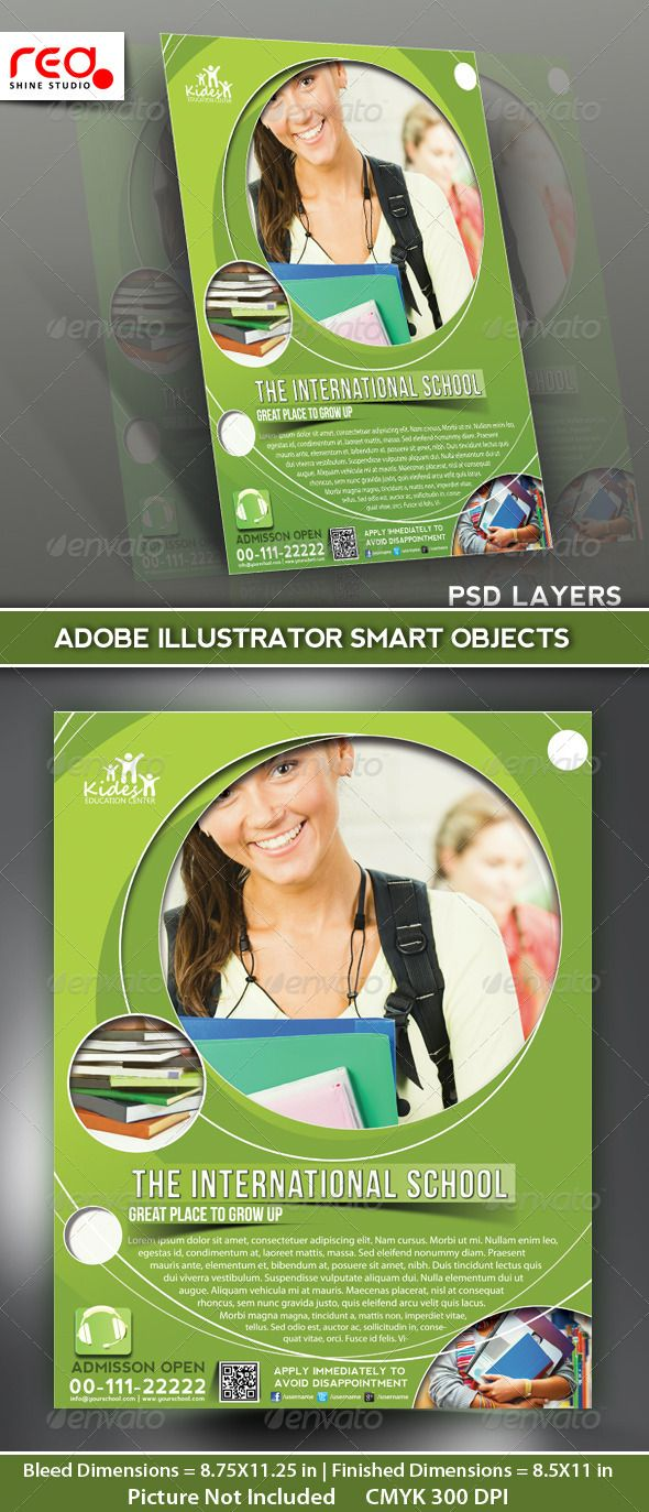 20 professional educational psd school flyer templates the international school flyer template
