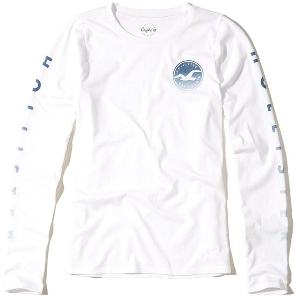 db31ae2eb08 Hollister Long-Sleeve Graphic Tee ( 25) ❤ liked on Polyvore featuring tops