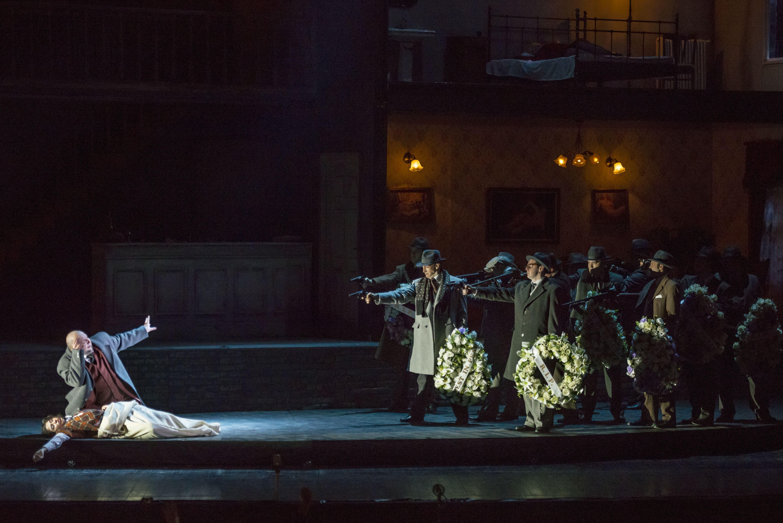 - Premiere night (20 february) / Seara premierei (20 februarie) - stanga/left Shoushik Barsoumian (Gilda) & Lucian Petrean (Rigoletto)