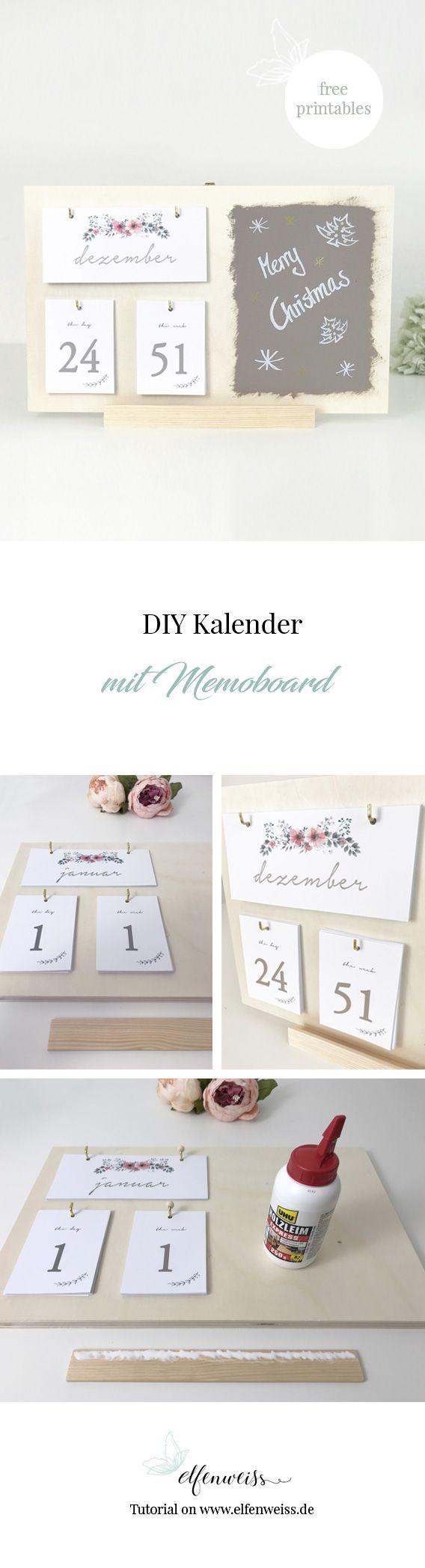 DIY Kalender 2018 * free printables* {Create yourself a merry little christmas} ⋆ elfenweiss