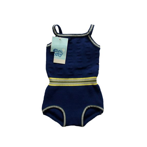 9bab76dcfd FRENCH vintage 60's / for girls / swimming suit / bathing costume /  textured polyamide / new old stock / size 4/5 years