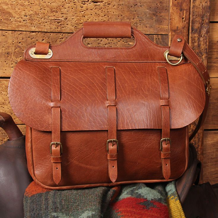 9b0b612b6b0d American Buffalo Leather No. 1 Saddlebag Briefcase