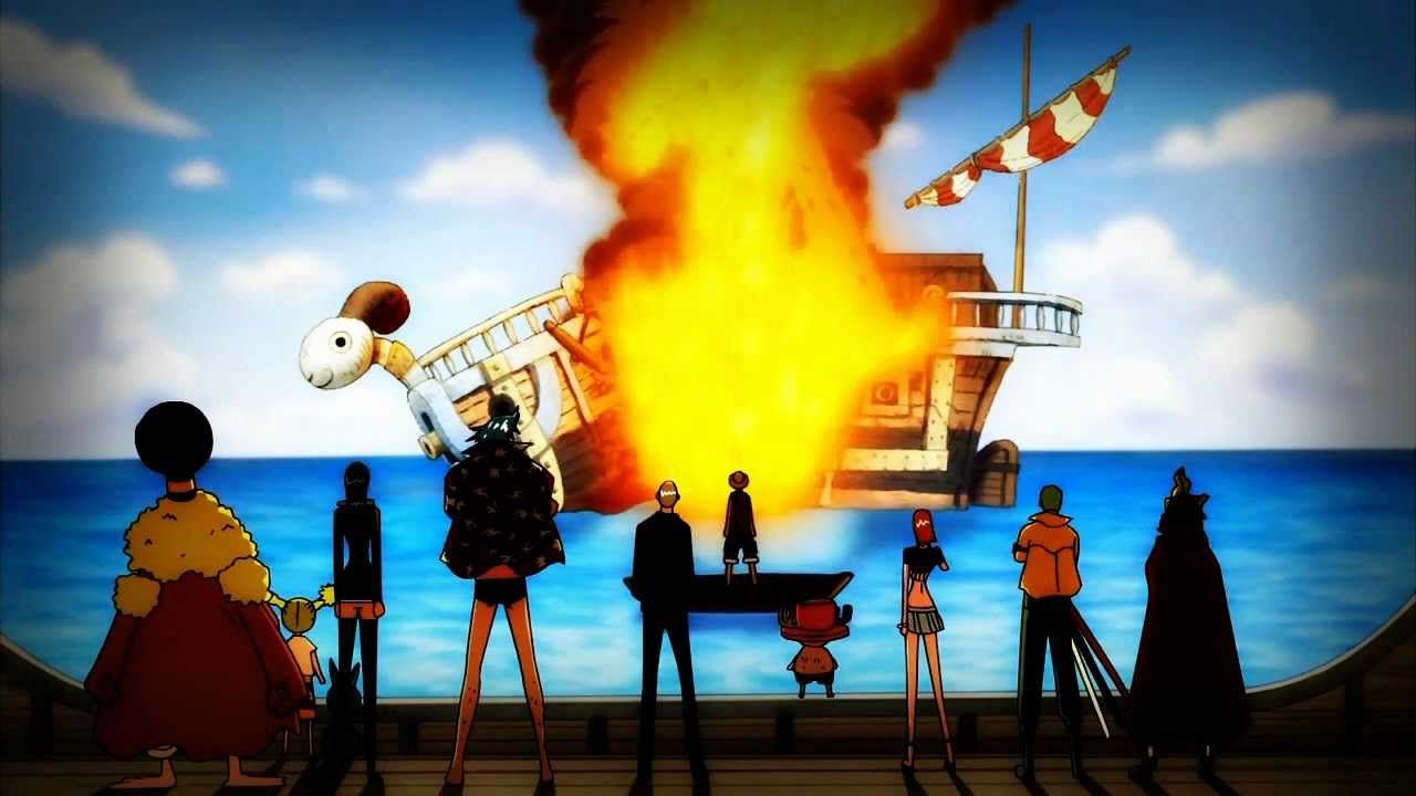 Farewell Going Merry One Piece Luffy One Piece Anime One Piece