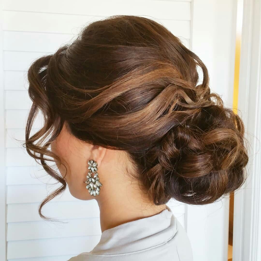 classy and elegant updo. tousled updos. bride and