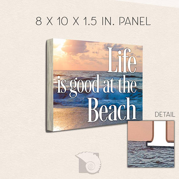 Beach Life At The Motivational Art 8x10 Panel Wall Home Office Decor Cubicle Goals