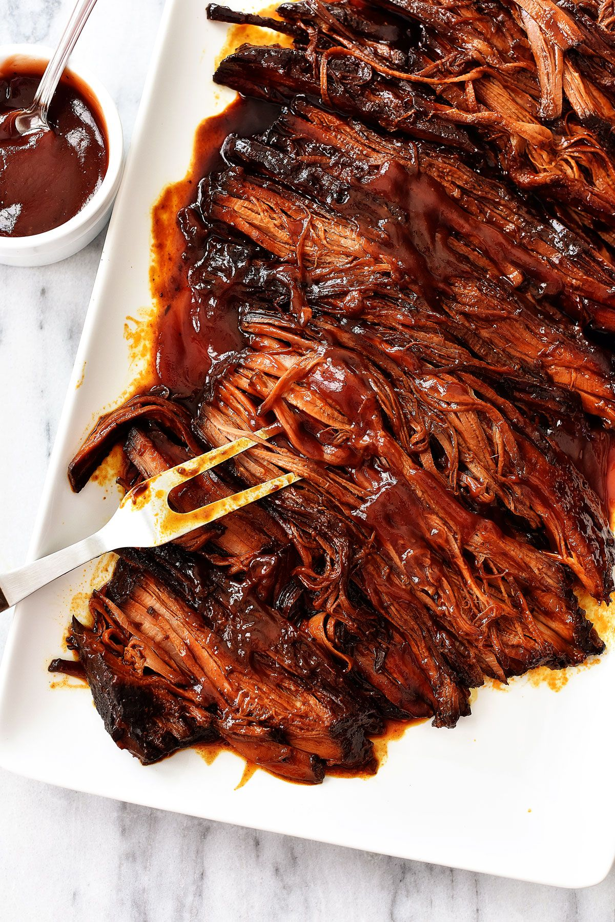 Ing It For The 12 Hours Or Longer Makes It Extra Tender Cooking Brisket In A Shorter Time Wi Slow Cooker Bbq Beef Bbq Brisket Recipes Brisket Recipes Crockpot
