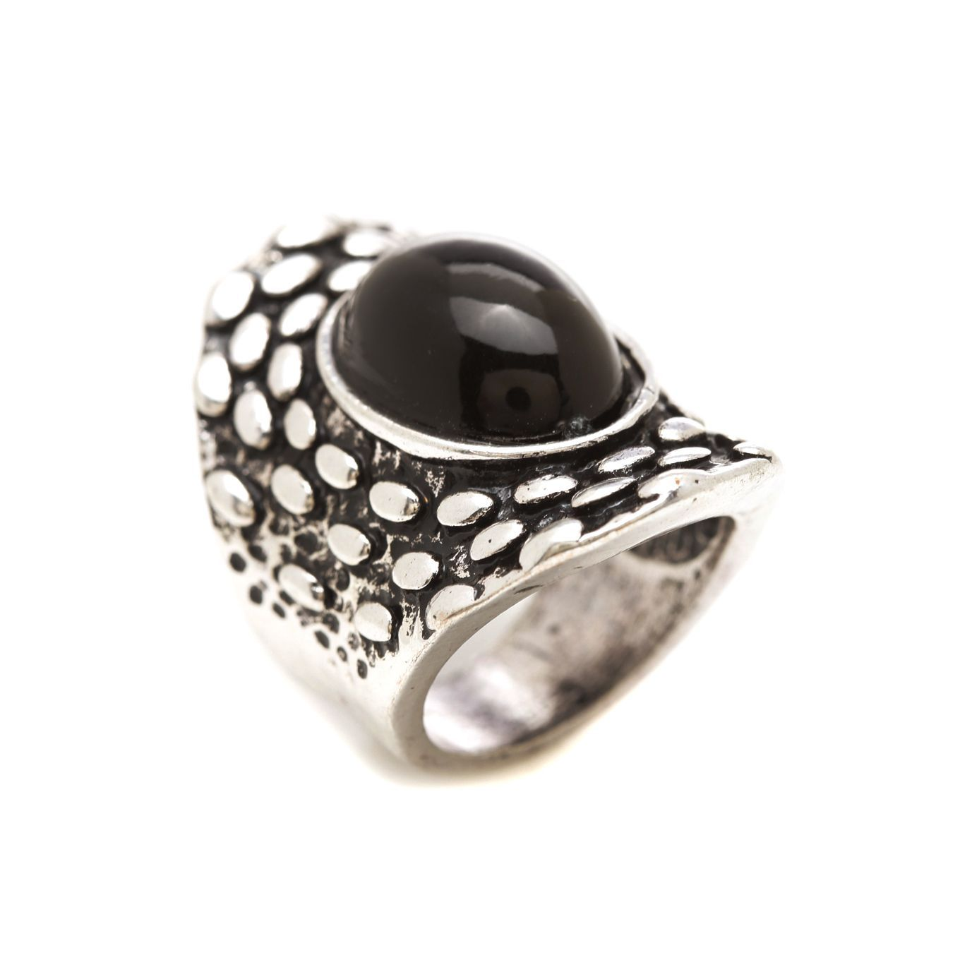 Mayan Series and Pewter Black Onyx Ring