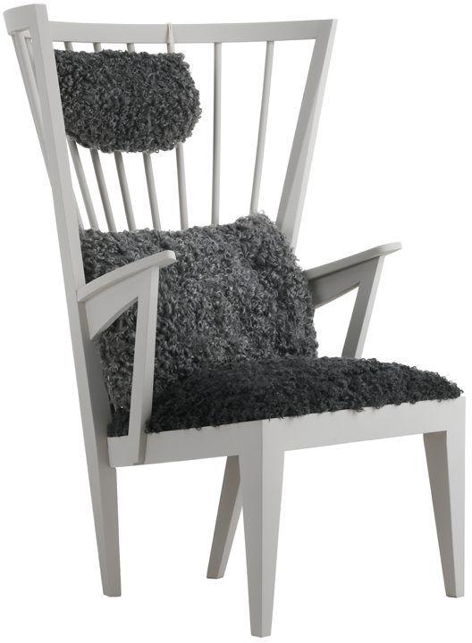 Länstol ljusgrå kladsel fårskinn Wishlist Pinterest Bar, Möbler och Norge
