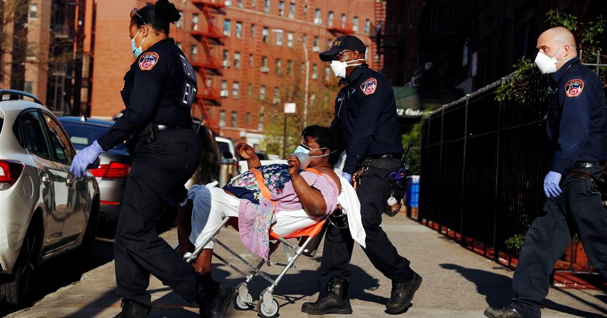 New york city emergency medical workers prepare for