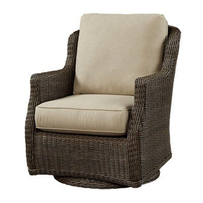 Wildon Home Patio Chair With Cushion Fabric Color Flagship Mineral