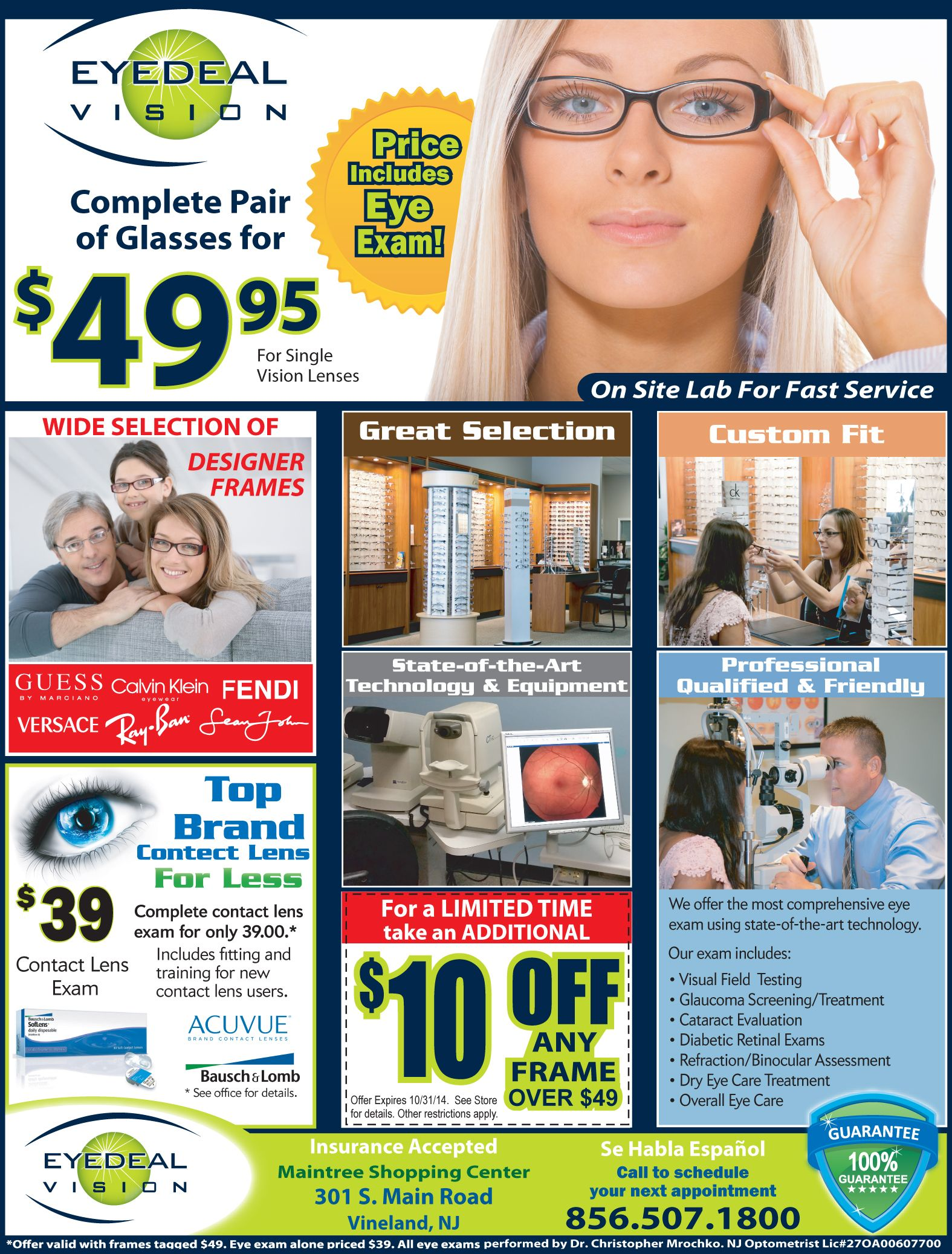 e5e395535c9 Eyedeal Vision offers the most comprehensive eye exam and more! Click here  to see their