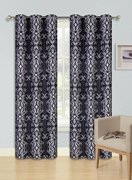 Gorgeoushomelinen F S 1 Panel 2 Tone Printed Design Room Darkening Thermal Blackout Window Curtain 63 Quot Or 84 Qu Curtains Drapes Curtains Window Curtains