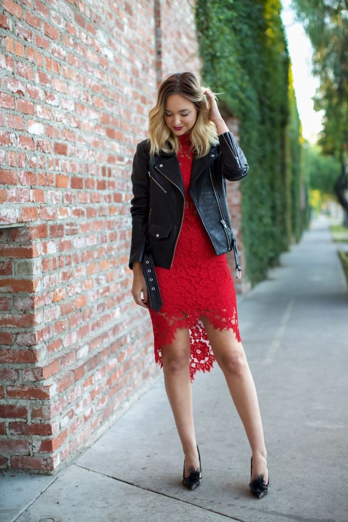 REDBERRY Leather jacket dress, Date outfits, Date night
