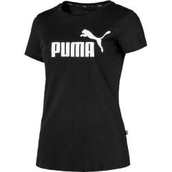 Puma Damen T-Shirt Ess Logo Tee, Größe Xl In Cotton Black, Größe Xl In Cotton Black Puma #shortsleevetee