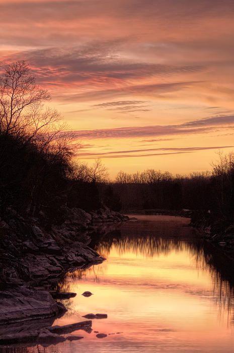 Towpath Sunrise By Francis Sullivan Sunrise Landscape Beautiful Sunrise