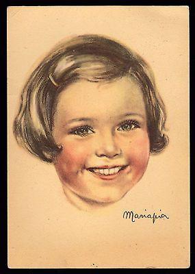 Pmce Mariapia Cartolina Fg Vg 1953 - Bimba Sorriso